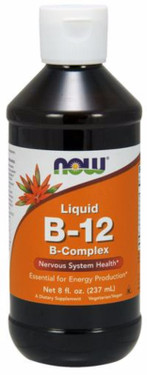B-12 Liquid B-Complex 8 oz Now Foods Vitamins, Energy
