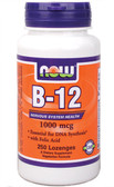 B-12 1000 mcg 250 loz Now Foods, Nervous System