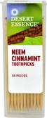 Neem Cinnamint Toothpicks 55 Toothpicks, Desert Essence
