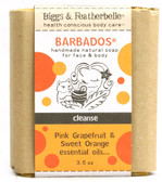 Barbados Handmade Soap Pink Grapefruit Sweet Orange 3.5 oz, Biggs Featherbelle
