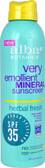 Botanica Very Emollient Mineral Sunscreen SPF 35 Herbal Fresh 6 oz, Alba