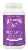Beef Liver Pasture-Raised 750 mg 120 Caps, Vital Proteins