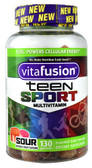 Teen Sport Multivitamin Sour Natural Fruit 130 Gummies, Vitafusion