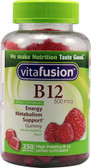 B12 Energy Metabolism Support Raspberry 500 mcg 250 Gummies, Vitafusion