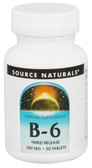 B-6 Timed Release 500 mg 50 Tabs, Source Naturals