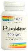 L-Phenylalanine 500 mg 60 Caps, Solaray