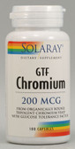GTF Chromium 200 mcg 100 Caps, Solaray