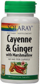 Cayenne & Ginger 465 mg 100 Caps Solaray