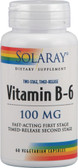 Vitamin B-6 100 mg 60 VCaps, Solaray