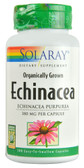 Organic Echinacea Herb 380 mg 100 Easy to Swallow Caps, Solaray
