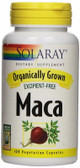 Organically Grown Maca 100 VCaps Solaray