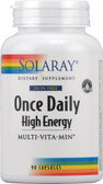 Once Daily High Energy Multi-Vita-Min No Iron 90 Caps, Solaray
