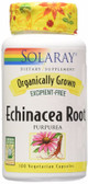 Organically Grown Echinacea Root 450 mg 100 VCaps, Solaray