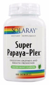 Super Papaya-Plex Fresh Mint 180 Chews Solaray, Digestive Enzymes