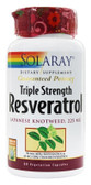 Triple Strength Resveratrol 225 mg 60 VCaps Solaray