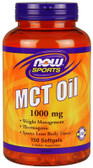 MCT Oil 1000 mg 150 Softgels Now Foods, Weight Loss