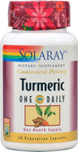 Turmeric One Daily 30 VCaps, Solaray