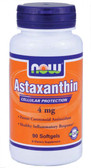Astaxanthin 4 mg 90 sGels, Now Foods, Potent Carotenoid Antioxidant