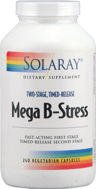 Mega B-Stress 240 VCaps, Solaray