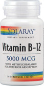 Vitamin B-12 5000 mcg 30 Sublingual Loz, Solaray