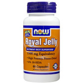 Royal Jelly 1500 mg 60 Caps, Now Foods