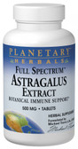 Full Spectrum Astragalus Extract 500 mg 60 Tabs, Planetary Herbals