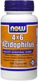 Acidophilus 4 X 6 Billion 120 Caps, Now Foods