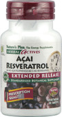 Herbal Actives Acai Resveratrol 30 Veggie Tabs, Nature's Plus
