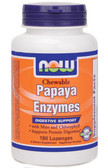 Papaya Enzyme Chewable 180 Tabs Now Foods, Digestive Support