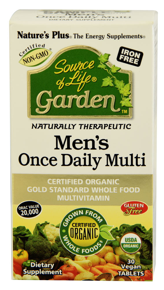 Source of life garden men 39 s once daily multi 30 vegan tabs nature 39 s plus for Garden of life once daily women s probiotic