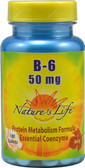 Vitamin B-6 50 mg 100 Tabs, Nature's Life