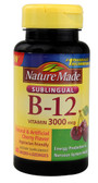Vitamin B-12 Sublingual Cherry 3000 mcg 40 Loz, Nature Made