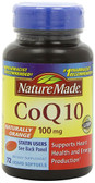 CoQ10 Naturally Orange 100 mg 72 Liquid sGels, Nature Made