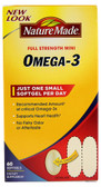 Omega-3 Full Strength Minis 60 sGels, Nature Made