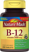 Vitamin B-12 500 mcg 200 Tabs, Nature Made
