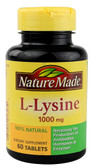 L-Lysine 1000 mg 60 Tabs, Nature Made