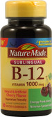 Vitamin B-12 Sublingual Cherry 1000 mcg 50 Loz, Nature Made