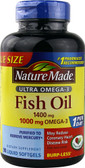 Ultra Omega-3 Fish Oil 1400 mg 90 Liquid sGels, Nature Made