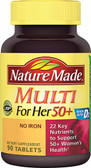 Multi For Her 50 Plus No Iron 90 Tabs, Nature Made