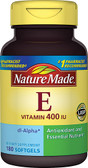 Vitamin E 400 IU 180 Liquid sGels, Nature Made