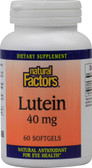 Lutein 40 mg 30 sGels, Natural Factors