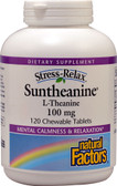 Stress-Relax Suntheanine L-Theanine 100 mg 120 Chews, Natural Factors