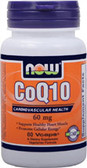 CoQ10 60 mg 60 vCaps, Now Foods, Cardiovascular