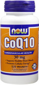 CoQ10 30 mg 120 vCaps, Now Foods Supplements