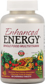 Kal Enhanced Energy Whole Food Multivitamin Mango Pineapple 60 Chews, KAL