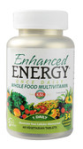 Kal Enhanced Energy Once Daily Whole Food Vitamin 60 Veggie Tabs, KAL