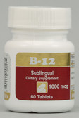 B12 Sublingual 1000 mcg 60 Tabs, Intensive Nutrition