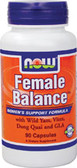 Female Balance 90 Caps, Now Foods, Women's Support