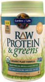 RAW Protein & Greens Organic Powder Lightly Sweet 23 oz, Garden of Life