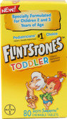 Toddler Children's Multivitamin Supplement Fruit 80 Chews, Flintstones